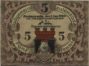 5 Pfennig (Zeulenroda) – avers