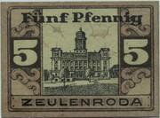 5 Pfennig (Zeulenroda) – revers