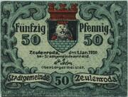 50 Pfennig (Zeulenroda) – avers