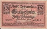 10 Pfennig (Lobenstein) – avers