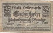 25 Pfennig (Lobenstein) – avers