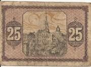 25 Pfennig (Greiz; Bank für Handel und Industrie) – revers