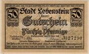 50 Pfennig Lobenstein – avers
