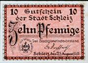 10 Pfennig Schleiz – avers
