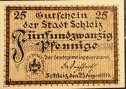 25 Pfennig Schleiz – avers