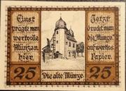 25 Pfennig Schleiz – revers