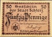 50 Pfennig Schleiz – avers