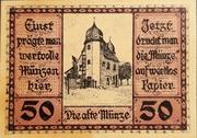 50 Pfennig Schleiz – revers