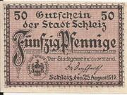 50 Pfennig (Schleiz) – avers