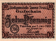 10 Pfennig (Tanna) – avers