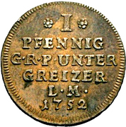 1 Pfennig - Heinrich III – revers