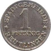 1 pfennig - Reutlingen – avers