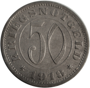 50 pfennig - Reutlingen – revers
