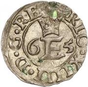 1 schilling Éric XIV (type 2; sans bouclier) – avers