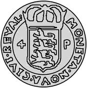4 pfennig Sigismund – revers