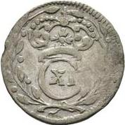 1 rundstück Charles XI (avec croix et sans dénomination) – avers