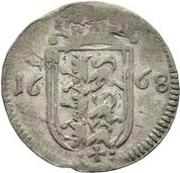 1 rundstück Charles XI (avec croix et sans dénomination) – revers