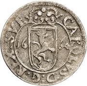 1 rundstück Charles XI (lion face à droite) – avers