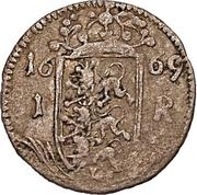 1 rundstück Charles XI (avec ruban) – revers