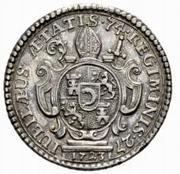 2 Ducat - Gerold II von Zurlauben (Uniface) – revers