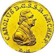1 Ducat - Karl Theodor von Dalberg – avers