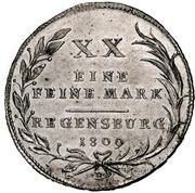 ½ Thaler - Karl Theodor von Dalberg (1/2 Konventionstaler) – revers