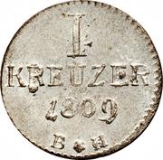 1 Kreuzer - Karl Theodor – revers