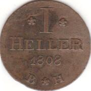 1 Heller - Karl Theodor – revers