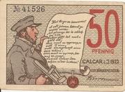 50 Pfennig (Calcar) – avers