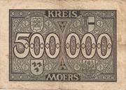 500,000 Mark (Moers) – revers