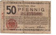 50 Pfennig (Moers) – avers