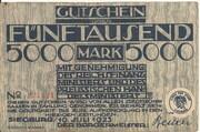 5,000 Mark (Siegburg) – avers