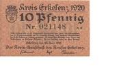 10 Pfennig (Erkelenz) – avers