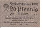 25 Pfennig (Erkelenz) – avers