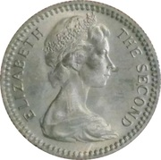 6 pence / 5 cents - Elizabeth II – avers