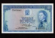 10 Shillings 1964 – avers