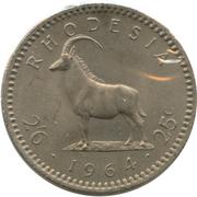 2½ shillings / 25 cents - Elizabeth II – revers