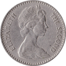 2½ shillings / 25 cents - Elizabeth II – avers