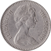 2½ shillings / 25 cents - Elizabeth II – avers