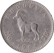 2½ shillings / 25 cents - Elizabeth II – revers