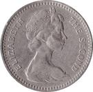 2 shillings / 20 cents - Elizabeth II – avers