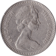 2 shillings / 20 cents - Elizabeth II – avers