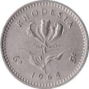 6 pence / 5 cents - Elizabeth II – revers