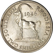2 shillings - George VI – revers