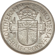 ½ couronne - George V – revers