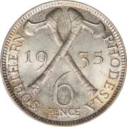 6 pence - George V – revers