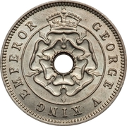 ½ penny - George V – avers