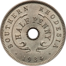 ½ penny - George V – revers