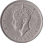 2 shillings - George VI – avers