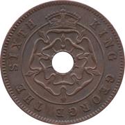 ½ penny - George VI – avers